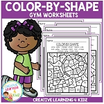 Color By Shape Worksheets: Gym ~Digital Download~